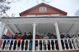Участники экошколы в Доме-музее Н.М. Пржевальского