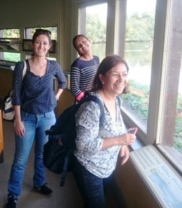 Maria Rivera and team at Slimbridge
