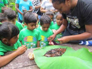 School children meet pond snails