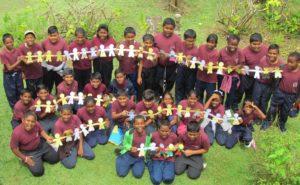 Happy Hill Hindu school with artwork