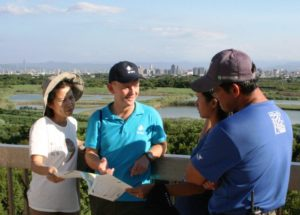 Pete Morris and Colleagues at Guandu Nature Park