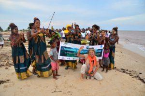 Evénement communautaire sur la plage