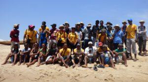groupe sur la plage