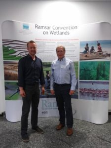 Martin Spray and Chris Rostron at Ramsar SC54