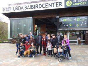 Senegalese visitors at Urdaibai