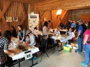 group activity making handcraft