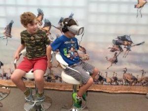 Children with VR glasses