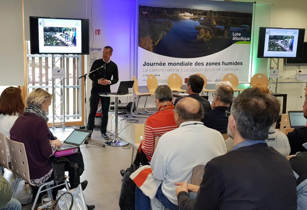 Chris giving a presentation