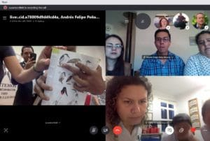 Teachers and students take part in Skype call for Birds and Schools