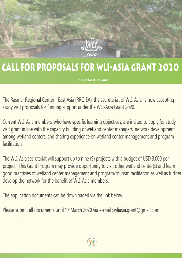 Flyer for WLI Asia Grant March 2020