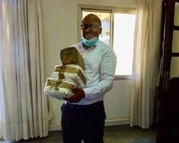 Man carrying parcels
