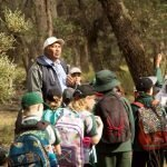 Kids and indigenous guide