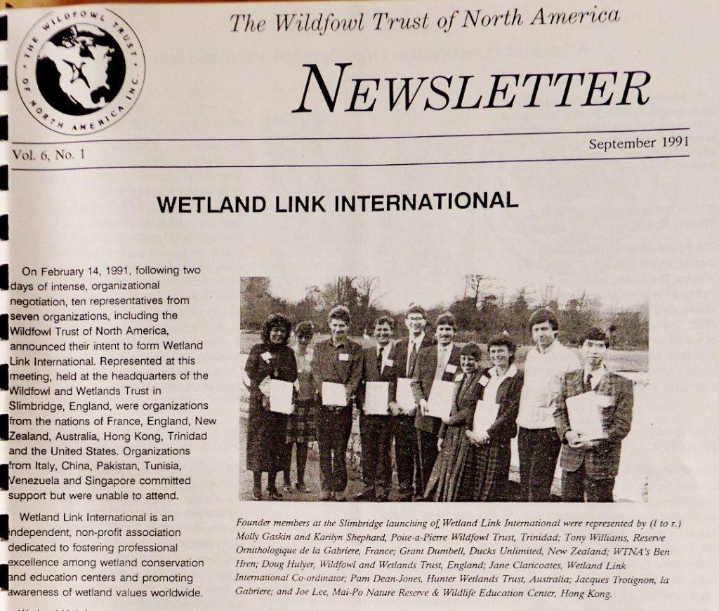 Waterfowl Trust of N. America on WLI meeting
