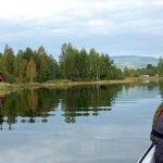 Kid on lake