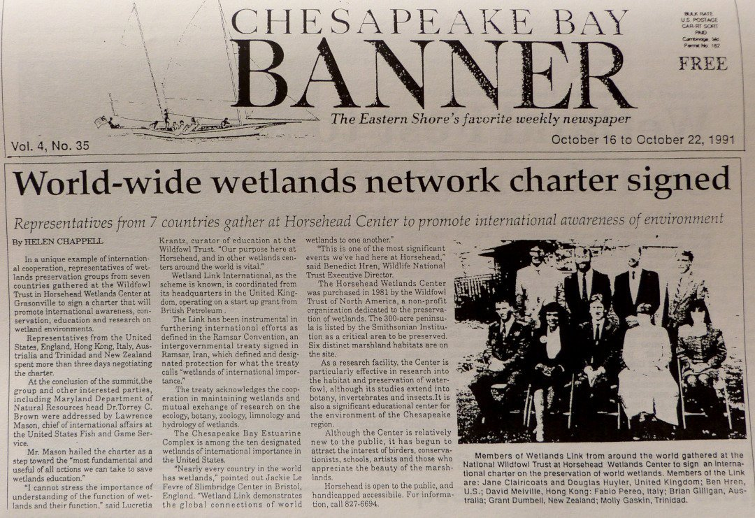 Newspaper clipping from USA in 1991 about WLI meeting