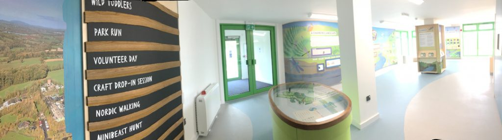Panorama of interior of Severn Valley Country Park exhibit