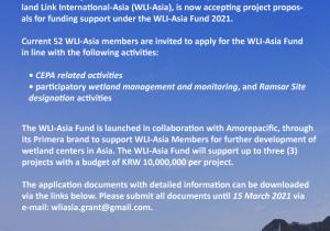 Flyer of WLI Asia Fund 2021; CEPA & designating Rasmar sites